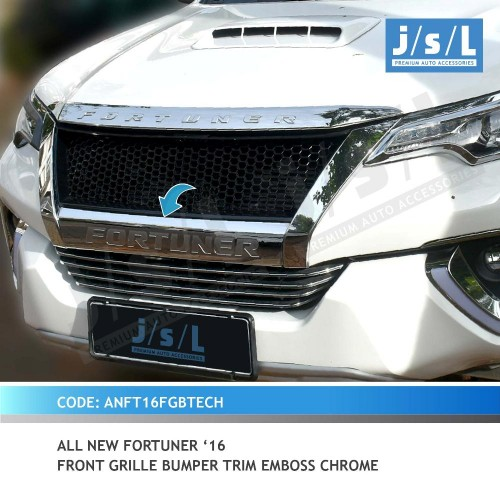 AN FORTUNER 16 FRONT GRILLE BUMPER TRIM EMBOSS CHROME