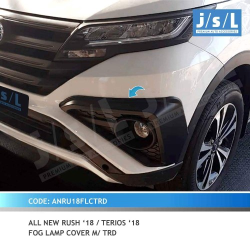 AN RUSH 18 / TERIOS 18 FOG LAMP COVER M/TRD BLACKTIVO
