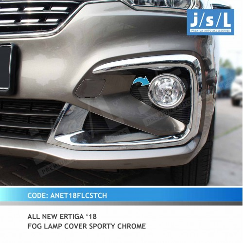 AN ERTIGA 18 FOGLAMP COVER SPORTY CHROME