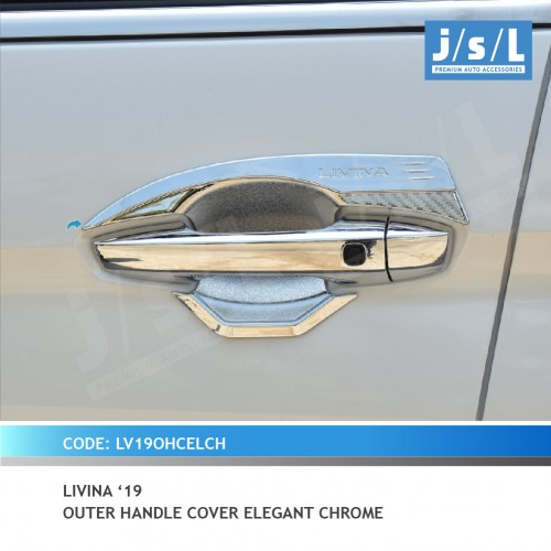 LIVINA 19 OUTER HANDLE COVER ELEGANT CHROME